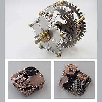 Maquinaria Tecnología Metal Asamblea Caja De Música,Personalidad Girar Mecanismo Manual Regalo: Amazon.es: Deportes y aire libre