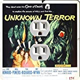 Rikki Knight 3711 Outlet Vintage Movie Posters Art Unknown Terror 2 Design Outlet Plate