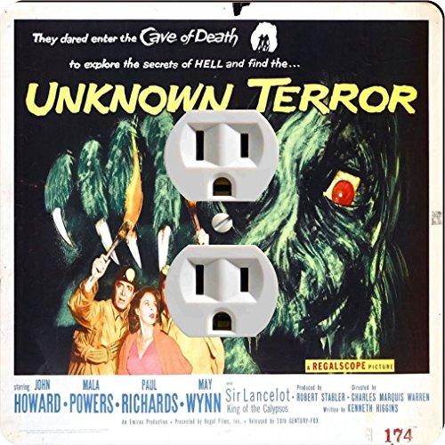 Rikki Knight 3711 Outlet Vintage Movie Posters Art Unknown Terror 2 Design Outlet Plate by Rikki Knight