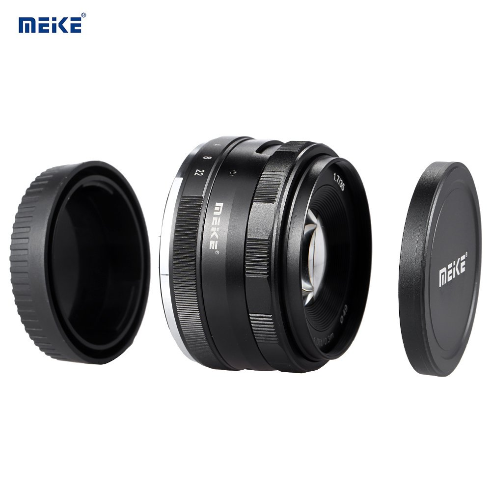 Meike 35mm F1.7 Manual Focus Prime Lens for Micro Four Thirds MFT M4/3 Olympus and Panasonic Digital Mirrorless Cameras 4332094716