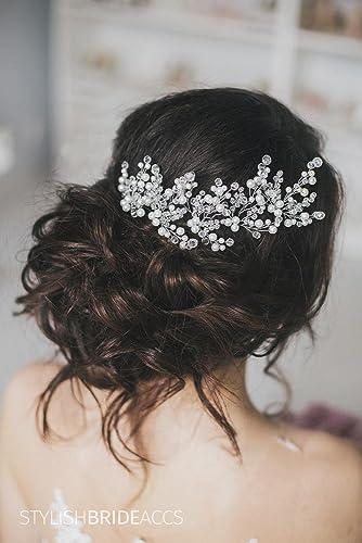 10 Pcs Flower Pearl Crystal Diamante Hair Pins Wedding Bridal Hair Accessories 5