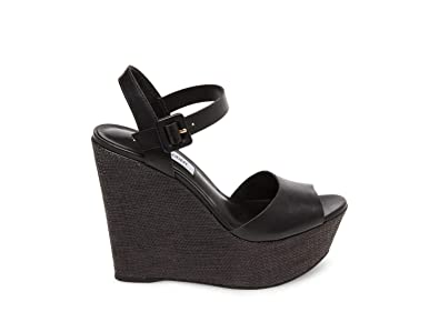 27094e9535e Steve Madden Women s Citrus Black Leather Sandal 10 US