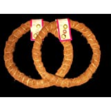 """2 Pack, 14"""" Prefinished Coco Fiber Wrapped Biodegradable Floral Craft Ring / Wreath Form, for Arts and Craft"""