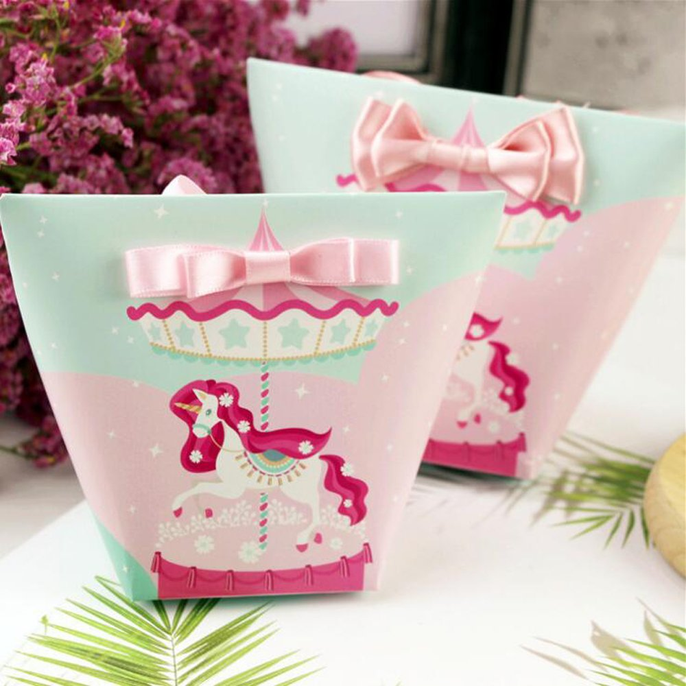 Amazon.com: Ctystallove 30pcs DIY Paper Wedding Favor Box Bridal ...