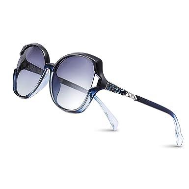 PORPEE Gafas de Sol Mujer Polarizadas, 2019 Gafas de Sol Moda con Tecnología de Incrustación de Diamante - Lente de Nylon Polarizado | UV400 ...