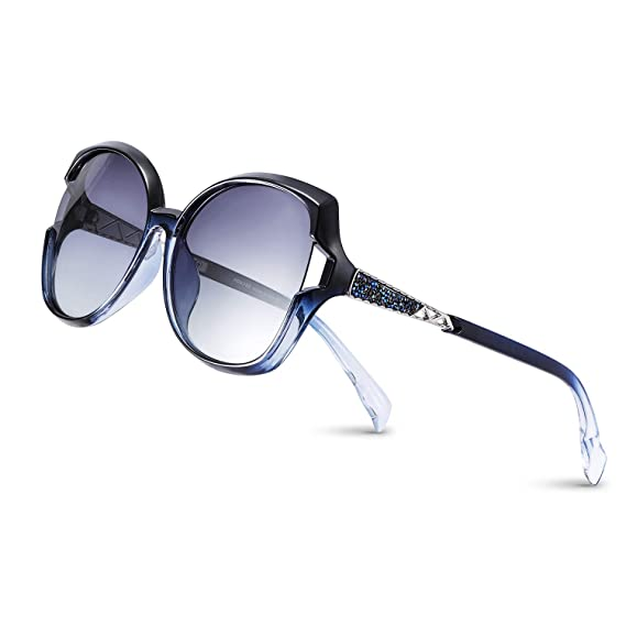 PORPEE Gafas de Sol Mujer Polarizadas, 2019 Gafas de Sol Moda con Tecnología de Incrustación de Diamante - Lente de Nylon Polarizado   UV400 ...
