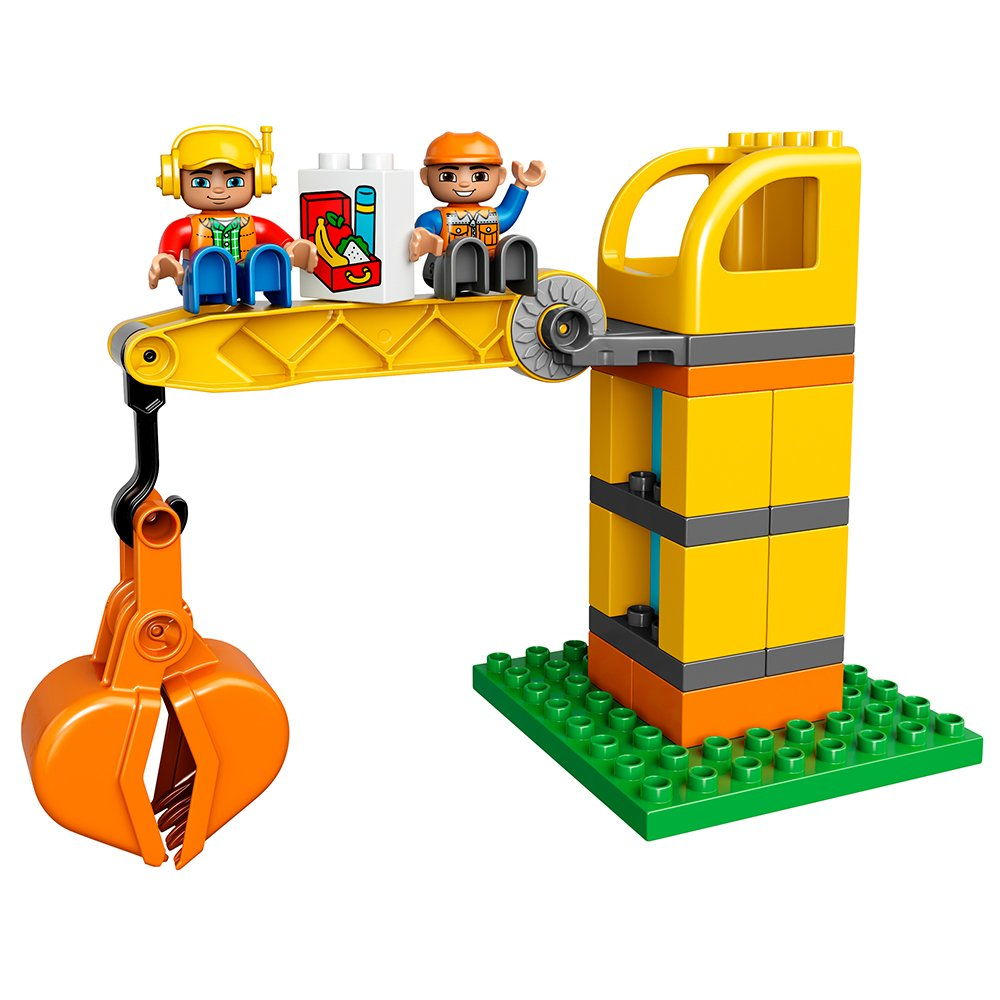 lego duplo town big construction site 10813 best toy for toddlers large 689989871780 ebay. Black Bedroom Furniture Sets. Home Design Ideas