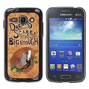 TopCaseStore / la caja del caucho duro de la cubierta de protección de la piel - Cork Koala Quote Motivational Australia - Samsung Galaxy Ace 3 GT-S7270 GT-S7275 GT-S7272