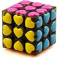 JIAAE Carat Love Heart Rubik's Cube 3X3 Children Puzzle Crystal Rubik
