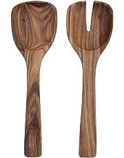 Villeroy & Boch Artesano Original - Cubiertos para ensalada (2 piezas, madera) marrón