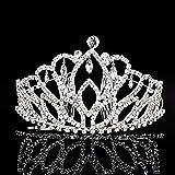 Elegant Tiara Crystal Hair Crown - Rhinestones Heaband for Queen, Bridal, Princess in Wedding, Party and Birthday 1-2 - by NIPOO