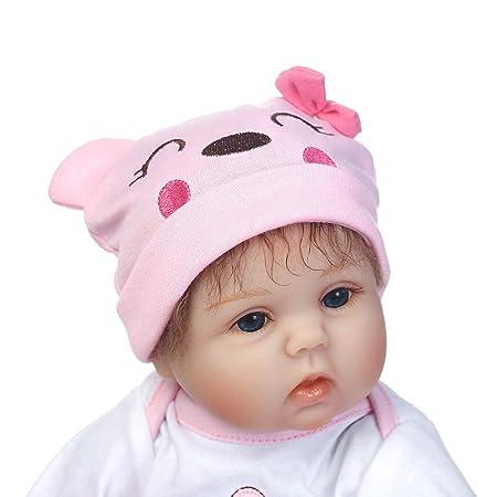 0Miaxudh - Muñeca de bebé recién Nacida (40 cm, Suave ...