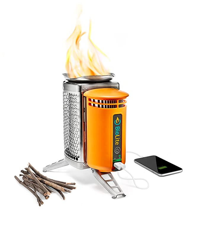 BioLite CampStove 1 Wood Burning and USB Charging Camping Stove