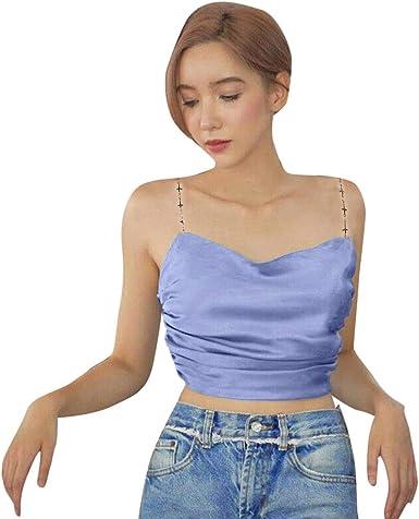 Poachers Camisetas Mujer Tirantes Tops Mujer Sexy Blusas para Mujer Elegantes Camisas Mujer Tallas Grandes Verano Blusas Mujer Boda Blusas Mujer Elegantes de Fiesta Tops Deportivo Mujer: Amazon.es: Ropa y accesorios