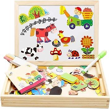 Felly Puzzle Magnetico Legno, Giochi Montessori 3 4 5 Anni