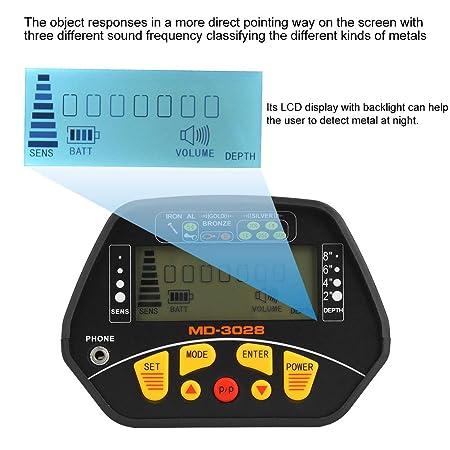 Caredy Detector de Metales Plata detectores de Oro Detector de Metales a Prueba de Agua de Alta sensibilidad Pantalla LCD Detecci/ón de Oro para detectar Joyas Oro