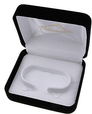 Estuche de terciopelo de regalo para anillo de plata de la cadena de colour azul real ZUB149: Amazon.es: Joyería