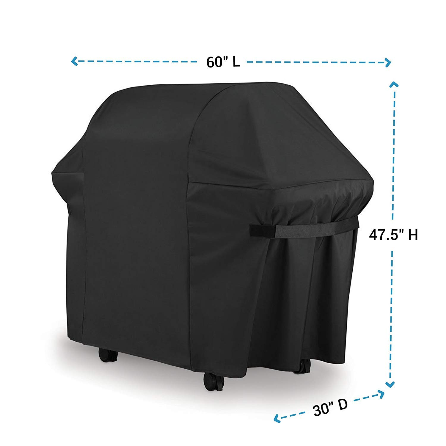 BBQ Gas Grill Cover 7107 for Weber: 44x60 in Heavy Duty Waterproof & Weather Resistant Genesis & Spirit Series Outdoor Barbeque Grill Covers by LiBa
