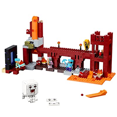 Lego Minecraft The Nether Fortress 21122: Toys & Games