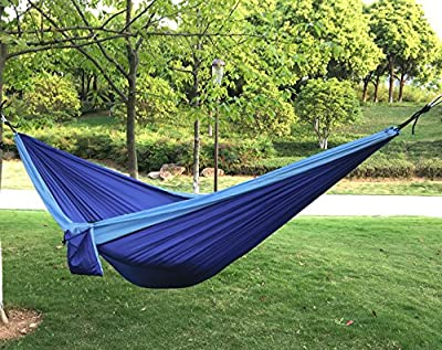 Portable Single/Double Camping Hammock/Ultralight Parachute Hammock for Backpacking | Travel | Hiking | Beach | Yard | Patio | Outdoor Recreation