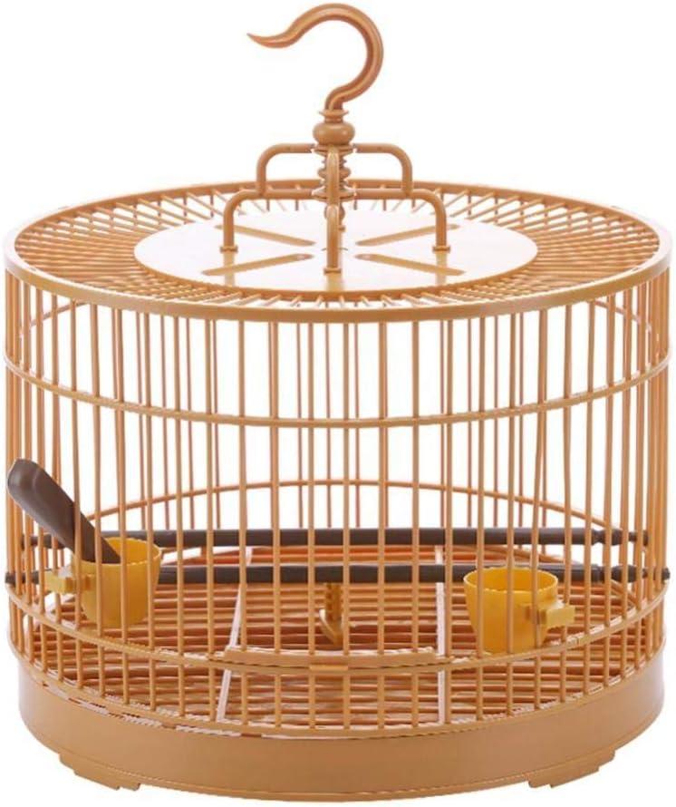 YITON Nidos para Pájaros Jaula De Plástico para Pájaros Conjunto De Transportador De Viaje Transpirable Jaula para Pájaros con Bebedero Pequeño Pájaro para Mascotas 1Uds