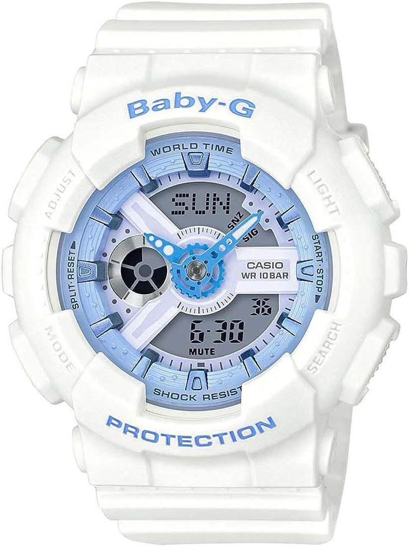 Casio Women's Baby G BA110BE-7A White Rubber Quartz Sport Watch