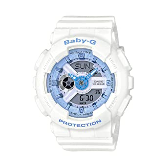 80805403ff66b Amazon.com  Casio Women s Baby G BA110BE-7A White Rubber Quartz ...