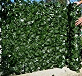 Best Artificial (TM) English Ivy Leaf Screening 3m x 1m Privacy Hedging Wall Landscaping Garden Fence **UV Fade Protected** (1)