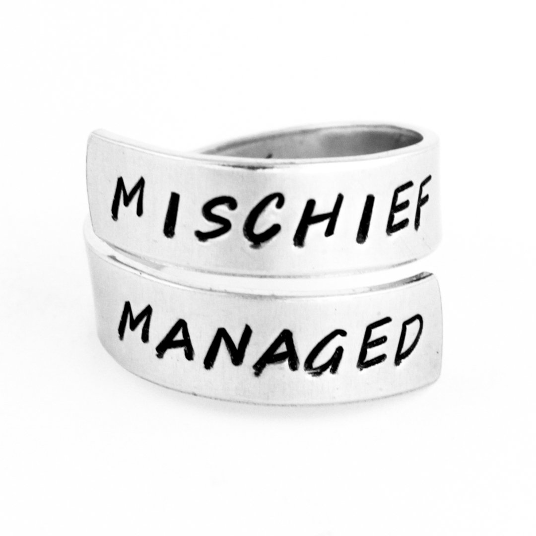 Mischief Managed Wrap Ring