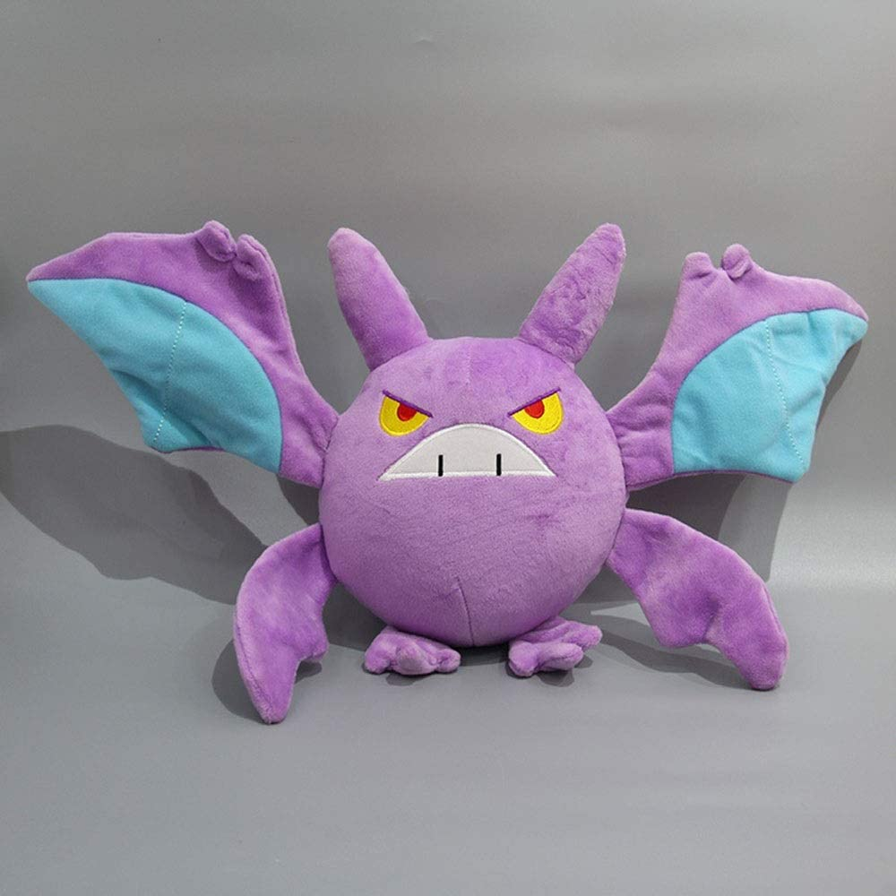 HHtoy Demonio Gengar Bat Juguete de Felpa Suave Relleno de 23 cm de la muñeca de la Almohadilla Anime Figuras de Marionetas niños Niñez Playmate cumpleaños de la Navidad Regalo Preescolar