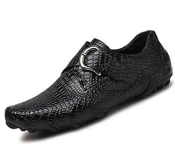 Zapatos hombre con estampado cocodrilo Cinturón cuero hebilla Mocasines y Slip-Ons oficina y trabajo carrera Driving Size 38To 45: Amazon.es: Deportes y ...