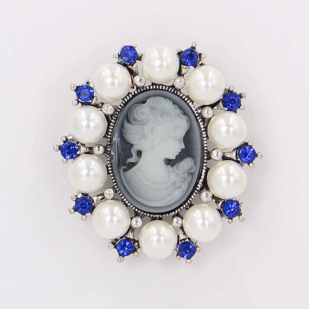 Ogquaton Premium Fashion Pearl Lady Vintage Cameo Style Victorien F/ête De Mariage De Broche Broche Utile