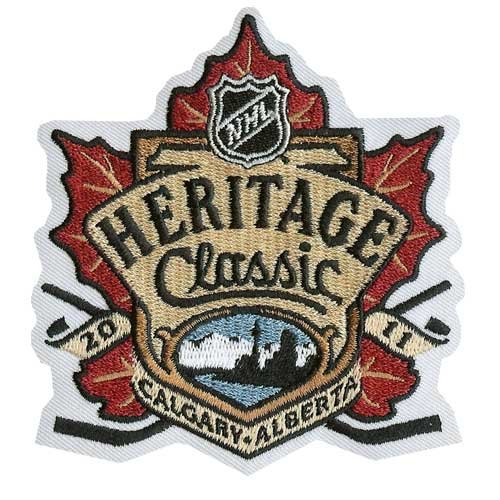 2011 NHL Heritage Classic Game Logo Jersey Patch (Calgary Flames vs. Montreal Canadiens)