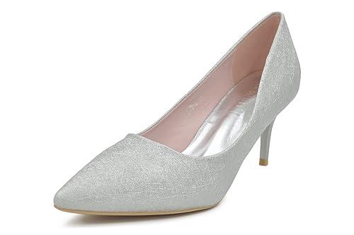 f65e78a238a Melesh Wedding Dress Bridal High Heels Women Pointed Toe Pumps Shoes (7 B(M