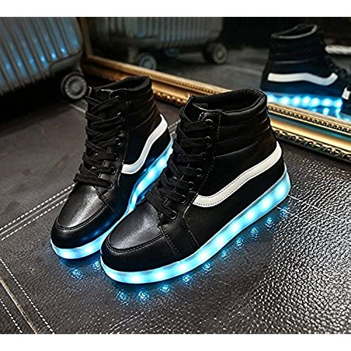 2a80dcc75e95 chic 7 Colors High Top LED light USB charging Hip-Hop shoes Fashion dance  Sneakers