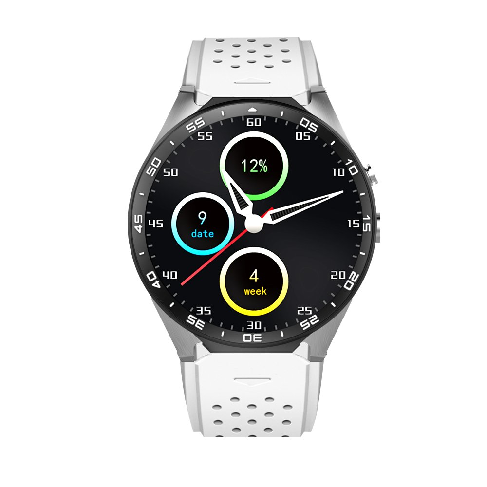 Smart Fitness Watch with GPS Tracker Pedometer Heart Rate for Android 5.1 (silver)