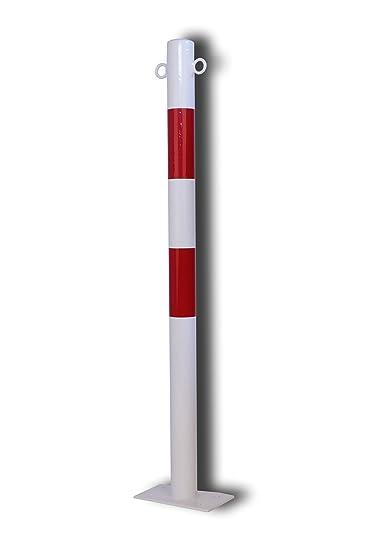 Runder Sperrpfosten Aus Stahl Zum Dubeln Farbe Rot Weiss