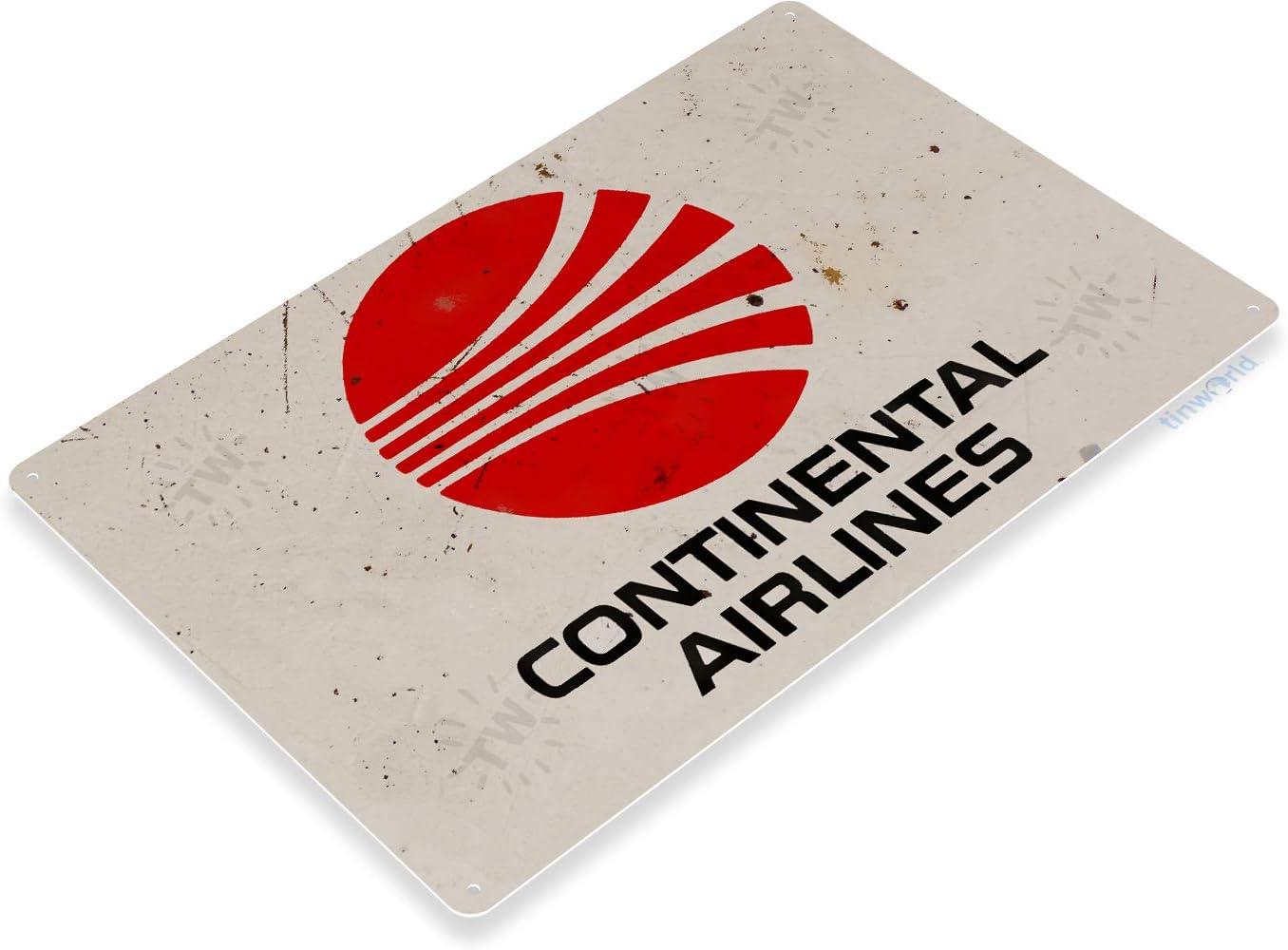 United Airlines Retro Logo Air Plane Shop Aviation Wall Art Decor Metal Tin Sign