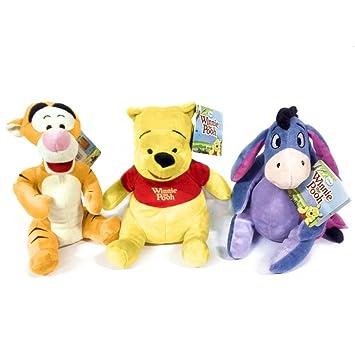 winnie the pooh tigger eeyore soft toys 8 plush super cuddly new