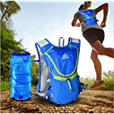 Outop Professional Outdoors Marathoner Running Race Hydration Vest Hydration Pack Backpack+2L Water Bag Blue