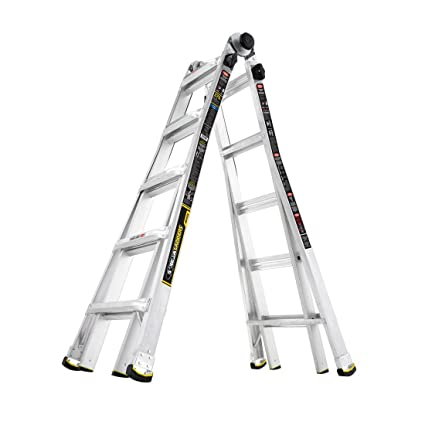 Gorilla Ladders 22 ft  MPX Aluminum Telescoping Multi-Position Ladder with  375 lbs  Load Capacity Type IAA Duty Rating