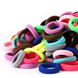 100PCS Baby Hair Ties, Cotton Toddler Hair Ties for Girls and Kids, Seamless Hair Bands, Elastic Ponytail Holders…