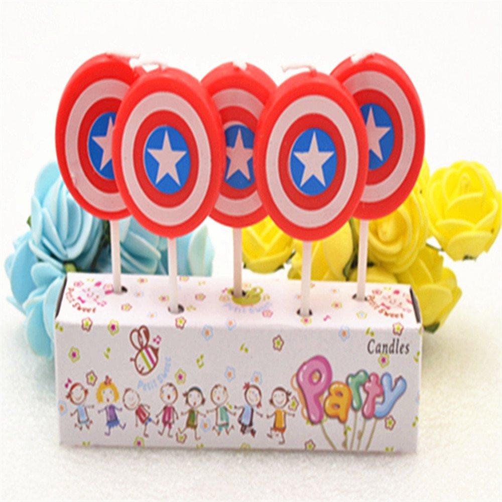 Vela de cumpleaños - los Vengadores - Capitán América Shield ...