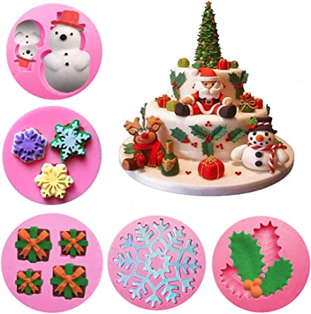 Snowflakes Winter Frozen Christmas Silicone Mould For Cake Toppers Chocolate Y2