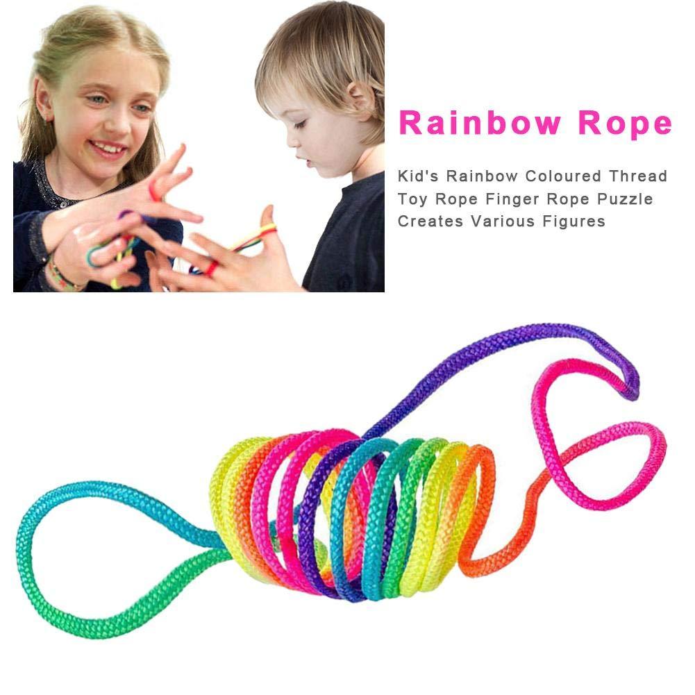 Puzzle cr/ée diverses Figures heling896 Finger Twist String Game Corde de Couleur pour Enfants avec Fil de Couleur pour Enfants Corde pour Doigts