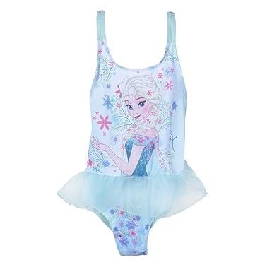 9f76313ea7 Disney Girls Frozen Elsa Anna Swimming Costume Tulle Skirt Swim Dress Kids  Size UK 2-7 Years  Amazon.co.uk  Clothing