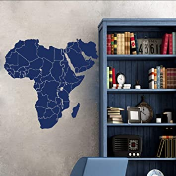 Qwerlp Tatuajes De Pared Mapa De África Continentes Países Mapa ...