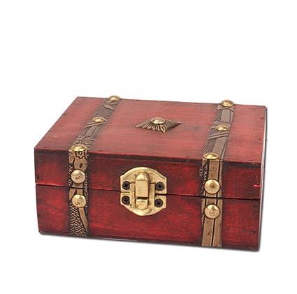 weiwei Caja De Almacenaje De Madera Vintage, Inicio Manualidades Adornos Caja Multi-Función,