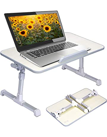 Bon Neetto Adjustable Laptop Table, Portable Standing Bed Desk, Foldable Sofa  Breakfast Tray, Notebook