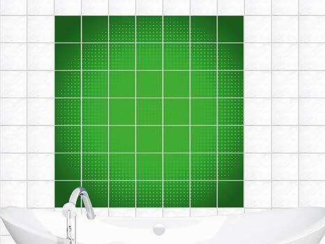 Adesivi per piastrelle immagini per bagno cerchio a pois verdi